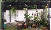 """รีวิว """"การทำระแนงเหล็ก"""" จัดสวนข้างบ้านทาวน์โฮมด้วยตัวคนเดียว"""