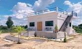 บ้านโมเดิร์นมินิมอล หลังเล็กอบอุ่น มาพร้อมดาดฟ้าสำหรับปาร์ตี้สุดชิล 2 ห้องนอน 2 ห้องน้ำ พื้นที่ 72 ตร.ม.