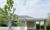 บ้านชั้นเดียวสไตล์คอนเทมโพรารี ภายในบ้านตกแต่งแบบมินิมอลที่ให้บรรยากาศน่ารักอบอุ่น