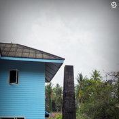 ปล่องไฟของเตาอบขนาดใหญ่ของบ้าน