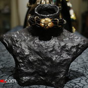 Rattan Necklace with Japanese Lacquer Flower สร้อยคอหวายดีไซน์แปลกตา