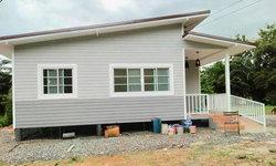 บ้านเพิงหมาแหงนดีไซน์ยกพื้นโปร่ง พร้อมทางลาดเพื่อผู้สูงอายุ 1 ห้องนอน 1 ห้องน้ำ งบ 390,000 บาท