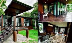 บ้านไม้โครงเหล็ก สไตล์บ้านตากอากาศ ครบครันทุกฟังก์ชันใช้งาน เพื่อการพักผ่อนแสนสบาย
