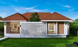 แบบบ้านหน้ากว้างสไตล์คอนเทมโพรารี 3 ห้องนอน 3 ห้องน้ำ พื้นที่ใช้สอยครบทุกฟังก์ชั่นด้วยขนาด 150 ตร.ม.