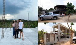 """""""ดีเจพุฒ"""" สานฝันสร้างบ้านให้พ่อ-แม่ ที่ไร่หมาเมิน สวนผึ้ง ราชบุรี"""