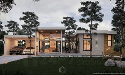 Tropical Home บ้านสไตล์โมเดิร์นทรอปิคอลที่ถูกโอบรอบด้วยสวนยางพารา