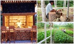 D.I.Y. ครัวไม้หลังใหม่ ในสวนผักปลอดสาร ที่บ้านเกิด