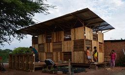 แบบบ้านไม้พาเลท สร้างภายใน 10 วัน เพื่อผู้ประสบภัย และอยู่อาศัยได้จริง