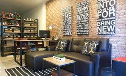 แต่งห้องรับแขกแนว Modern Loft แบบประหยัด และ เน้นทำเอง