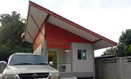 บ้านหลังเล็กสไตล์โมเดิร์น ดีไซน์หลังคาเพิงหมาแหงนสุดโดดเด่น งบประมาณก่อสร้าง 590,000 บาท