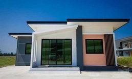 แบบบ้านชั้นเดียวสไตล์โมเดิร์น พื้นที่ใช้สอยราว 56 ตร.ม.งบประมาณก่อสร้าง 495,000 บาท