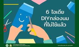 ดื่มเสร็จแล้วอย่าทิ้ง 6 ไอเดีย DIY กล่องนมที่ไม่ได้ใช้แล้ว
