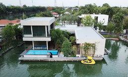 """จากเรื่องเล่าวัยเด็ก สร้าง """"บ้านกลางน้ำ"""" ในกรุงเทพฯ ราคา 5.5 ล้าน ออกแบบเอง ไร้ผู้รับเหมา"""