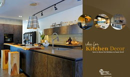 เทคนิคการจัดแผนผังห้องครัวเบื้องต้น