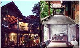 """""""บ้าน"""" สร้างจากไม้เก่าทั้งหลัง สวย อบอุ่น จนนึกว่าเป็นบ้านทางเหนือ"""