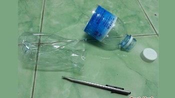 ไอเดียการ DIY กับดักแมลงสาบ ต้นทุนต่ำ จากขวดน้ำดื่ม ทำเอง ทำได้จริง