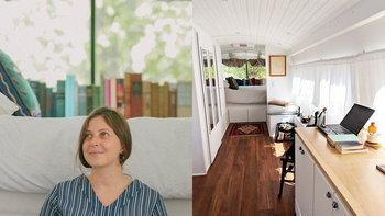สาวรักการเดินทาง ใช้เงิน 2.3 ล้าน เวลา 3 ปี เปลี่ยนรถบัสเก่าเป็นรถบ้านในฝัน