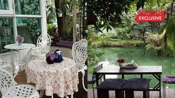 """อดีตอาจารย์ ทำตามฝัน เปลี่ยนที่ดินเล็กๆ หน้าบ้านเปิด """"Blueberry Bakery And Coffee""""  ร้านกาแฟในสวน"""