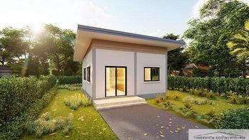 แบบบ้านขนาดกะทัดรัด ดีไซน์ทันสมัยเรียบง่าย ออกแบบเพื่อครอบครัวเริ่มต้นงบไม่เกิน 350,000 บาท