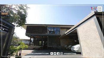 """บ้านโมเดิร์นสไตล์ดิบๆ แต่อนุรักษ์ไว้ซึ่งความเป็นไทยที่หาดูได้ยาก บ้านทรงกล่องเหลี่ยมๆ แต่ยกพื้นสูง บ้าน """"713 HOUSE"""""""
