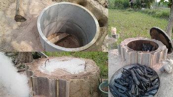 วิธีทำเตาเผาถ่านจากบ่อปูนซีเมนต์ ได้ถ่านคุณภาพจากปราชญ์ชาวบ้าน โจน จันได
