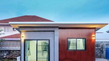 แบบบ้านชั้นเดียวน็อคดาวน์เหมาะทำบ้านพัก โฮมออฟฟิศ ขนาด 3 x 6 เมตร ราคาเริ่มต้น 165,000 บาท ในโซนอีสาน