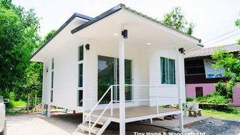 บ้านโมเดิร์นน็อคดาวน์ชั้นเดียว งามสง่าด้วยโทนสีขาว 2 ห้องนอน 1 ห้องน้ำ 1 พื้นที่ใช้สอย 42 ตร.ม.