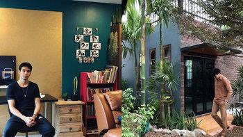 """เปิดบ้าน """"ก๊อต จิรายุ"""" ออกแบบเรียบง่าย เน้นความร่มรื่น มีห้องทำงานศิลปะ"""
