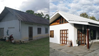 """""""บ้านปลายฝัน"""" คู่รักใช้เงิน 5 แสนรีโนเวทบ้านคนงานเก่า 20 ปี เป็นบ้านที่ให้ชีวิตอย่างแท้จริง"""
