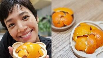 """กินส้มอย่าทิ้งเปลือก """"นุ่น ศิรพันธ์"""" DIY เปลือกส้มเพิ่มกลิ่นหอมให้บ้าน"""