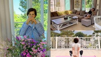 """บ้านพักตากอากาศที่เขาใหญ่ของ """"จอนนี่ - นก จริยา แอนโฟเน่"""" บ้านสีขาวท่ามกลางทิวเขา"""