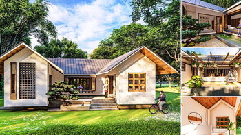 แบบบ้านสไตล์ญี่ปุ่น ดีไซน์รูปตัวยู (U-Shape House) พร้อมจัดสวนญี่ปุ่นไว้กลางบ้าน