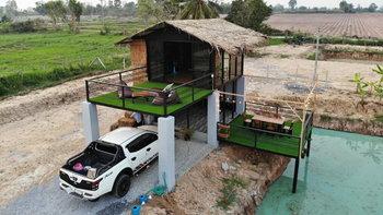 บ้านสวนคันทรี มาพร้อมลานเปิดโล่งรับลมริมสระน้ำ 1 ห้องนอน 1 ห้องน้ำ งบก่อสร้าง 350,000 บาท