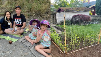 """เปิดสวนผัก """"บ้านอุ้ม สิริยากร"""" ที่พอร์ตแลนด์ อเมริกา ผักงามจนไม่ต้องซื้อทาน"""