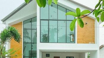 บ้านสไตล์โมเดิร์น ตกแต่งอบอุ่นแบบมินิมอล สดชื่นด้วยสวนหย่อมภายในบ้าน