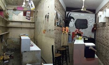 รีโนเวทร้านแผงลอยเก่าๆ ให้เป็นร้านกาแฟชิวๆ เท่ๆ