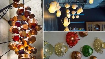 10 โคมไฟที่ทำจากข้าวของเครื่องใช้ในครัว!!