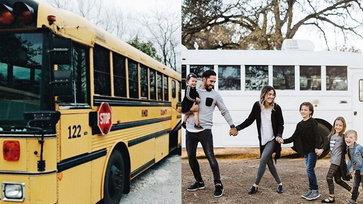 พ่อ-แม่ลูก 4 เปลี่ยนรถโรงเรียนเป็นรถบ้าน เดินทางเพื่อสร้างแรงบันดาลใจ