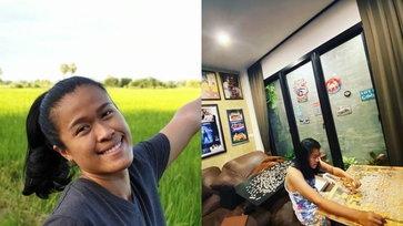 """เปิดบ้าน """"ปู มลิกา กันทอง"""" 1 ใน 6 เซียนลูกยางสาวไทย กับเวอร์ชั่นสาวชาวสวน"""
