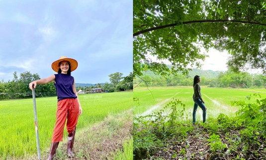 """ต่าย อรทัย ลุยพัฒนาผืนดินเป็น """"นาไทย"""" โฮมสเตย์ สำหรับแฟนคลับ"""