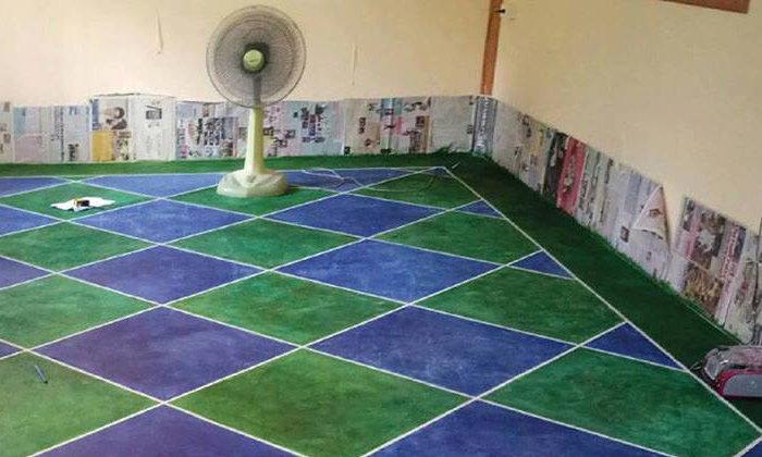 """ไม่ง้อกระเบื้อง DIY """"ทาสีพื้นบ้านคอนกรีต"""" เปลี่ยนพื้นสีปูนให้สวยปัง ทำได้เองแบบไม่ต้องจ้างช่าง"""