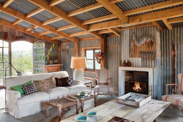 for Casas con techos de chapa de color