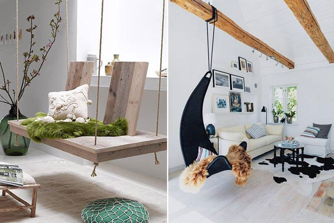 25 Examples of Indoor Swings Turn Your Home Into a Playground For ...