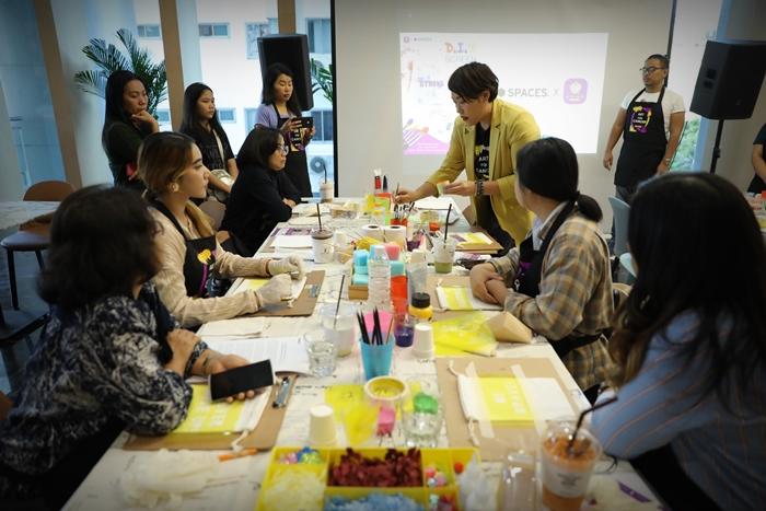 Spaces โคเวิร์กกิ้ง สเปชร่วมสร้างสุขเพื่อสังคมกับกิจกรรม Spaces x Art for Cancer workshop