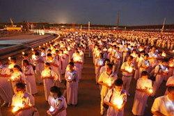 ขั้นตอนการเวียนเทียนในวันสำคัญทางพระพุทธศาสนา