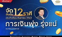 จัดอันดับ 12 ราศี 'การเงินพุ่ง รุ่งแน่' ประจำเดือนกันยายน 2563 โดย อ.บาส 7th Sense