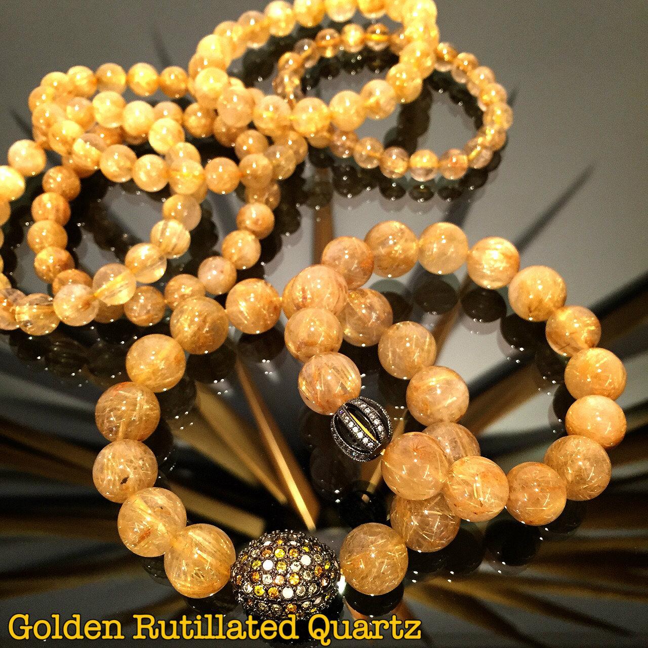 ไหมทอง (Golden RutilatedQuartz)
