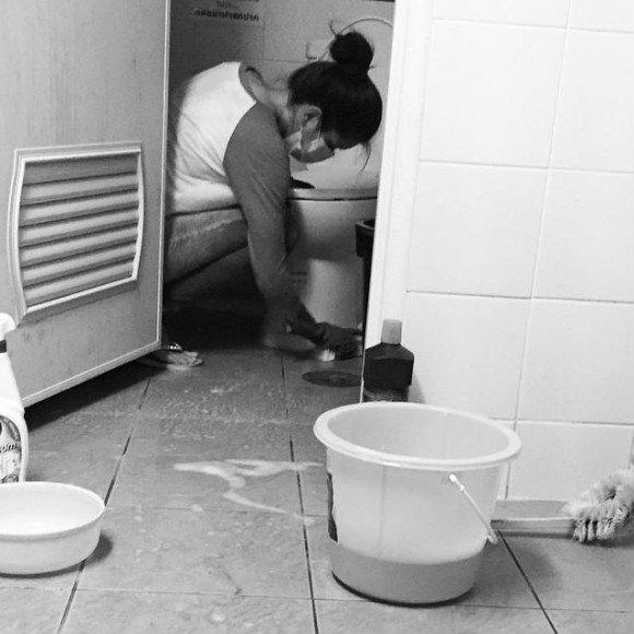 ล้างห้องน้ำวัด
