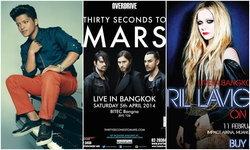 ส่องคอนเสิร์ตนอก 2014 ปีหน้าคนไทยจะได้ดูอะไร