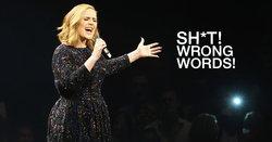 Adele ฮาแตก สบถรัวๆ ร้องเพลงผิดท่อนกลางเวที